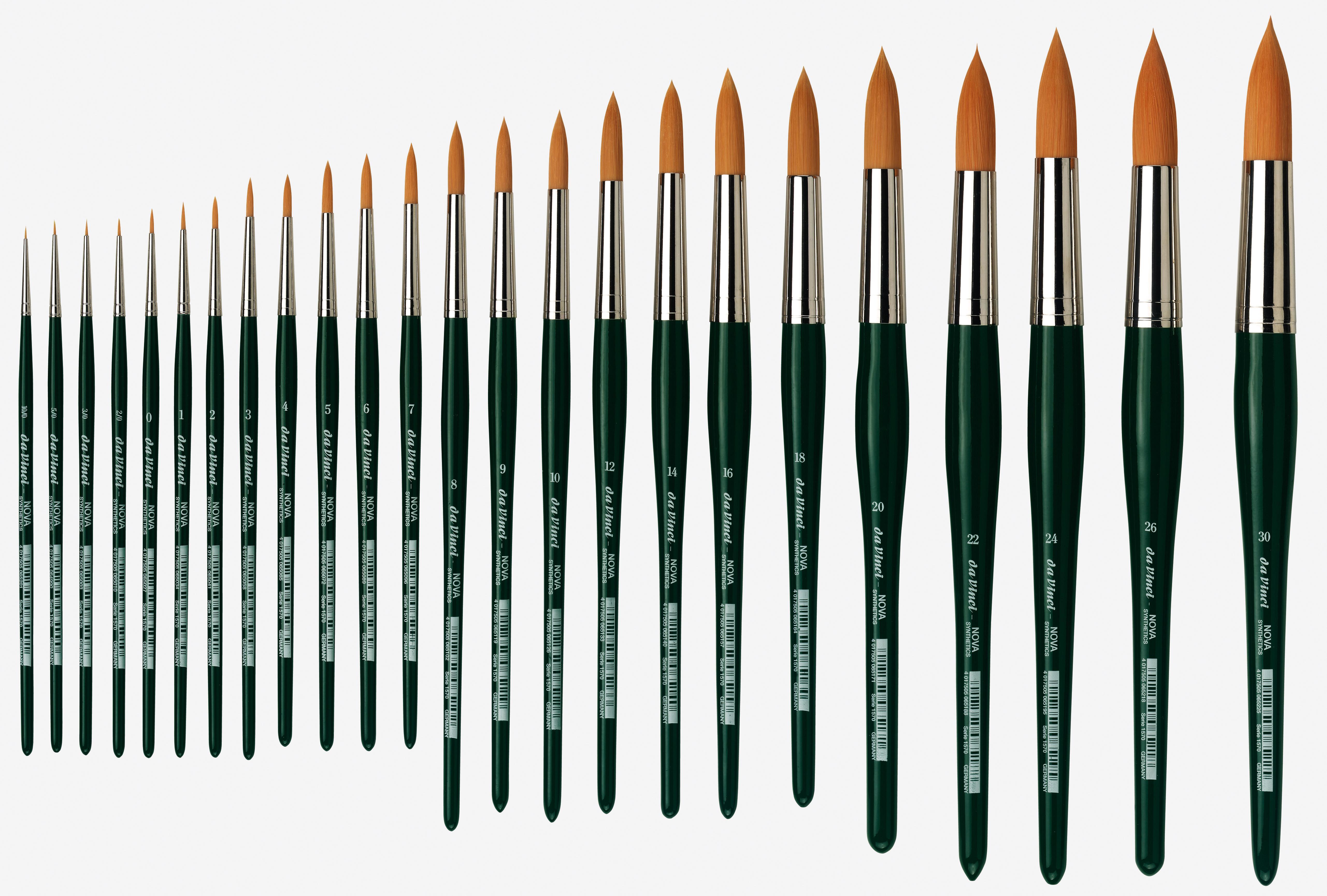 Da Vinci pennello in fibra sintetica a manico corto tondo serie NOVA 1570
