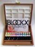 Blockx cassetta legno per acquerelli in tubo da 15ml