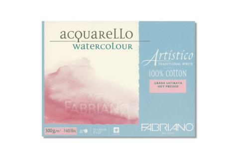 Fabriano Artistico Traditional White blocco 300gr grana satinata